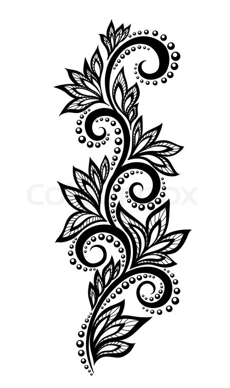 Isolated Floral Design Element With The Effect Of Lace Eyelets | Stock  Vector | Colourbox