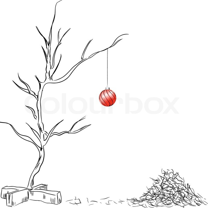 Lonely On Christmas.Lonely Christmas Ball Stock Vector Colourbox