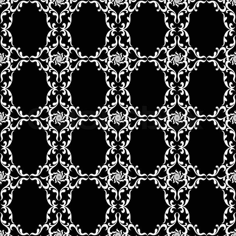 vintage hintergr nde damastverzierung monochrom nahtlose muster vektor wallpaper floral. Black Bedroom Furniture Sets. Home Design Ideas