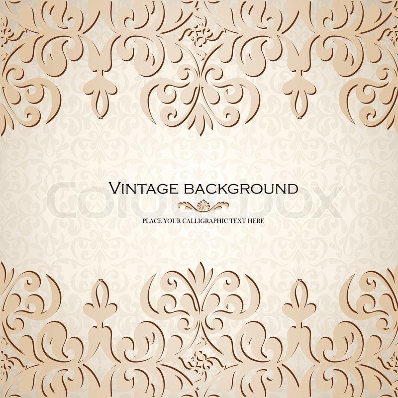 Vintage-Hintergrund , alte Grußkarte, Einladung mit Spitze und ...