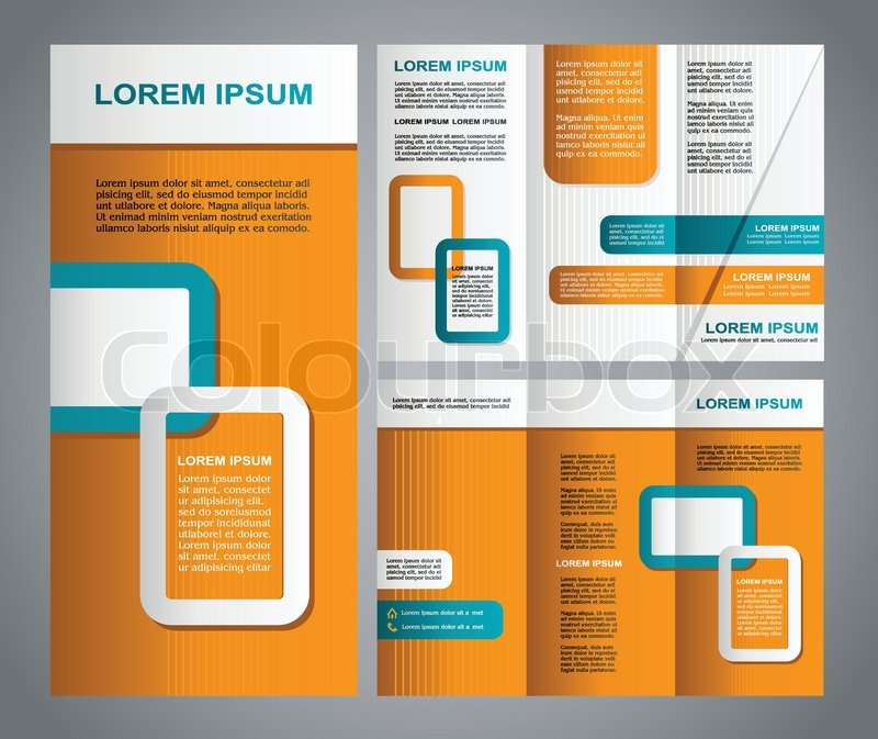 Modern style brochure template design with new design creative ...