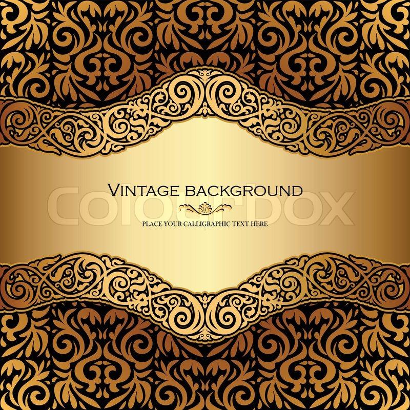 Vintage Background Antique Victorian Gold Ornament