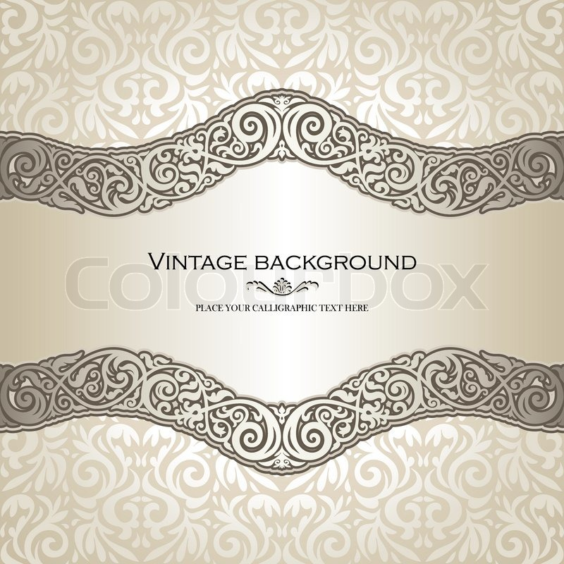 Vintage background elegance antique victorian floral ornament vintage background elegance antique victorian floral ornament baroque frame beautiful invitation classical old style card ornate page cover label stopboris Choice Image