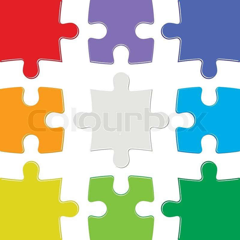 Neun Farben Rätsel   Vektorgrafik   Colourbox