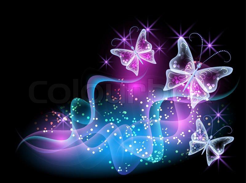smoke and glowing butterflies stock vector colourbox butterfly vector clipart butterfly vector graphic