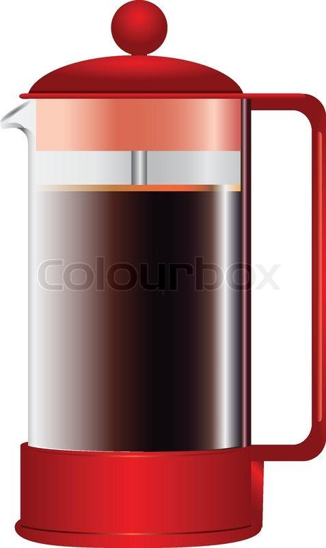 dr cken kaffeemaschine vektorgrafik colourbox. Black Bedroom Furniture Sets. Home Design Ideas