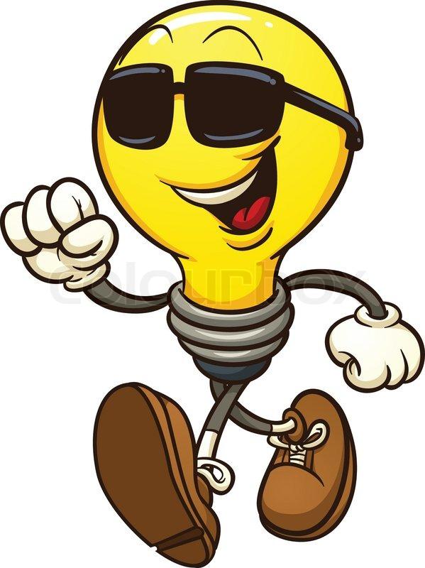 cartoon lightbulb wearing shades vector clip art lighting clip art light clipart
