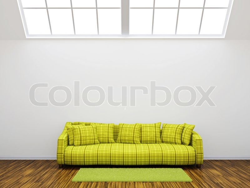 gr nes sofa stockfoto colourbox. Black Bedroom Furniture Sets. Home Design Ideas
