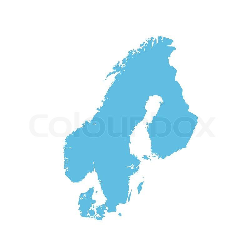 Pictogram icon of a map of Scandinavia   Stock Vector   Colourbox