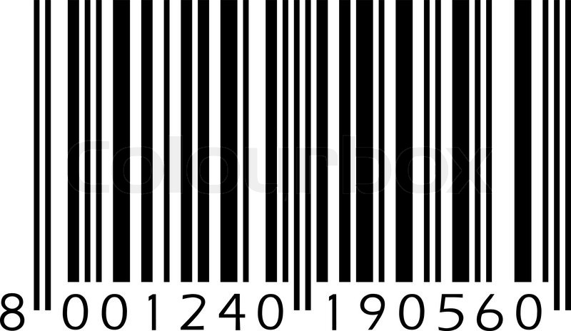 Fereditions31 Codigos De Barra Png: Vector Barcode Isolated On Black ...