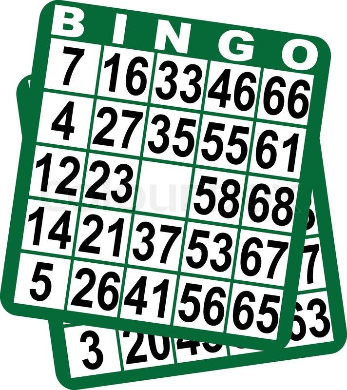 bingo spielkarten vektorgrafik colourbox