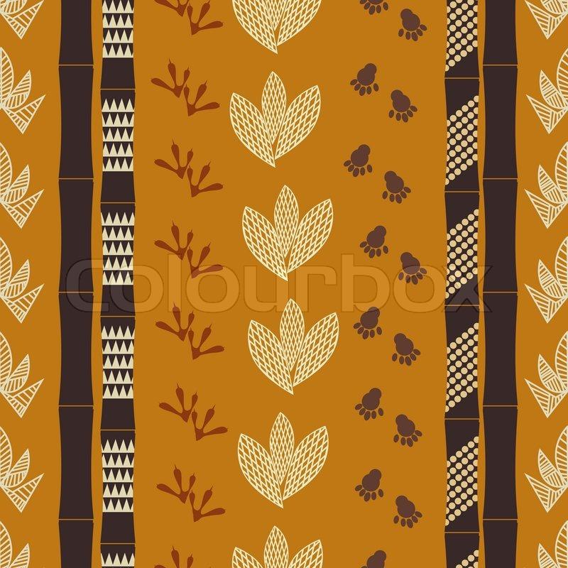 nahtlose muster mit tribal zeichnung vektorgrafik colourbox. Black Bedroom Furniture Sets. Home Design Ideas