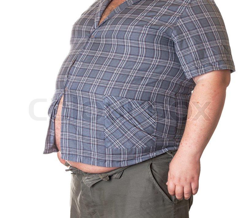 Plötzlich Dicker Bauch Mann