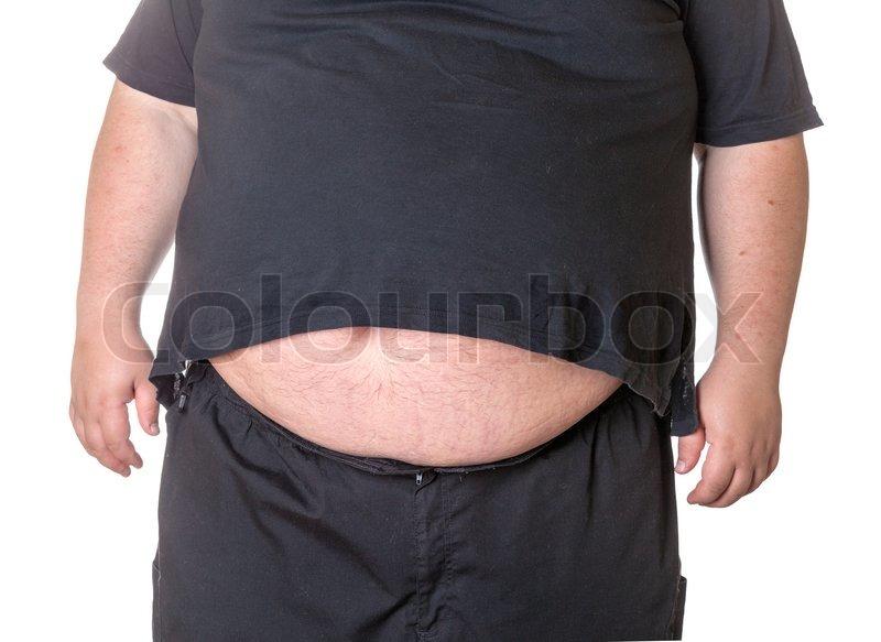 Fedt mand med en stor mave | stock foto | Colourbox