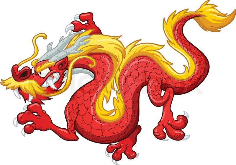 cartoon chinese red dragon vector clip art illustration with simple rh colourbox com dragon vector free dragon vector game