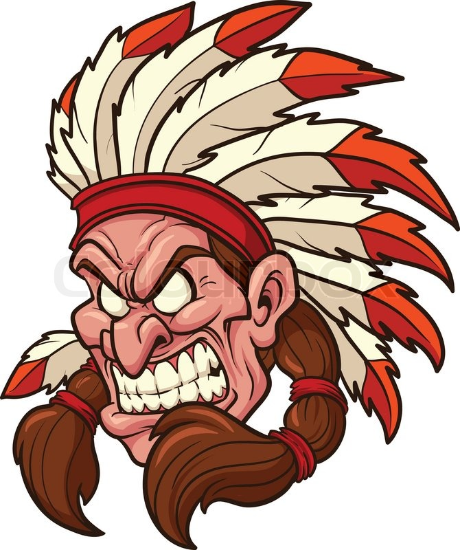 indian chief mascot vector clip art illustration all in a single rh colourbox com indian chief headdress clipart indian chief mascot clipart