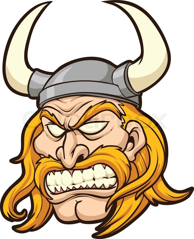 Stock vector of 'Viking head. Vector clip art illustration with simple ...