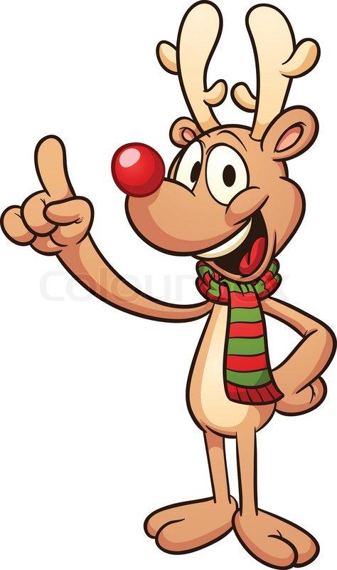 Cute Cartoon Christmas Reindeer Stock Vector Colourbox