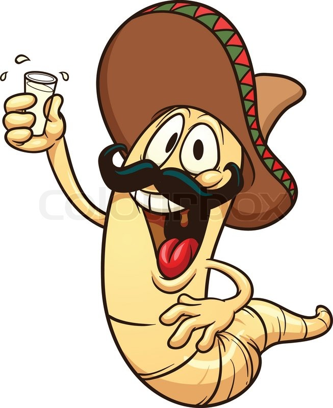 cartoon tequila worm vector clip art illustration with free jackass clipart Jackass Head Outline