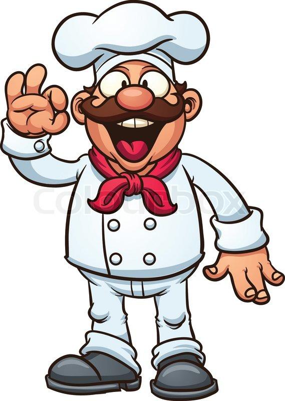 cartoon chef stock vector colourbox rh colourbox com chef cartoon pictures chef cartoon maker