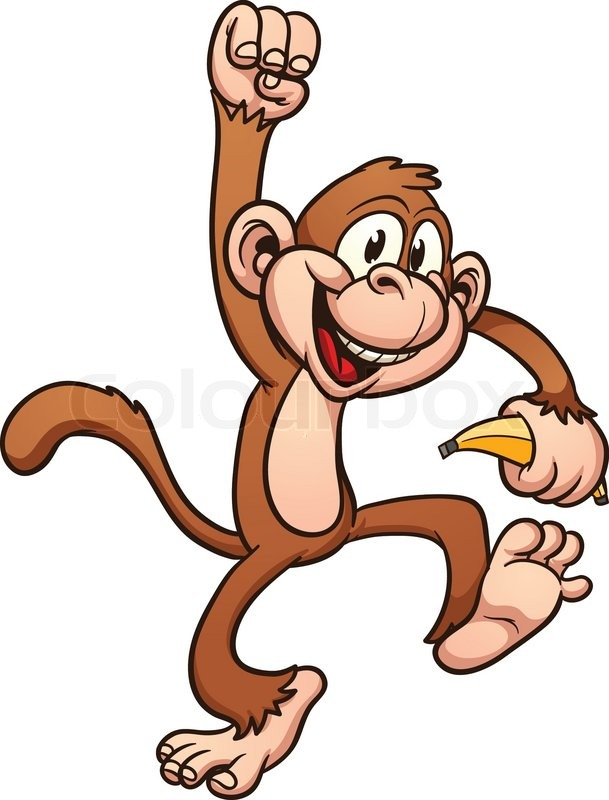 cute cartoon monkey vector clip art illustration with simple rh colourbox com monkey clip art coloring page monkey clip art for baby shower