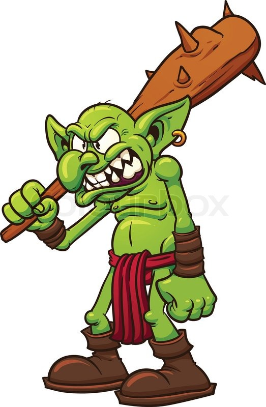 angry cartoon troll vector illustration with simple gradients all rh colourbox com troll clip art for free troll clip art in color to print for free