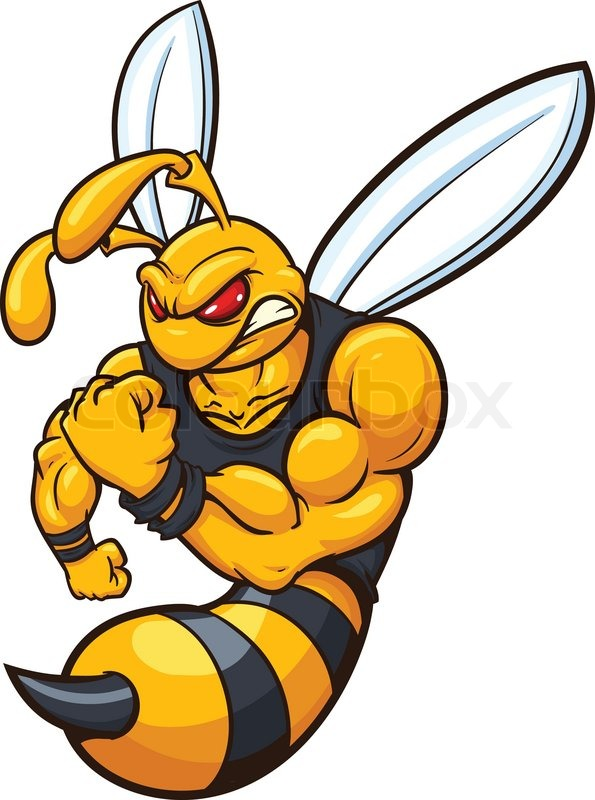 yellow jacket mascot vector illustration with simple gradients all rh colourbox com