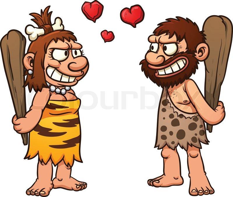 prehistoric cartoon couple caveman and cavewoman vector Pregnant Belly Silhouette Clip Art Cute Pregnant Silhouette Clip Art