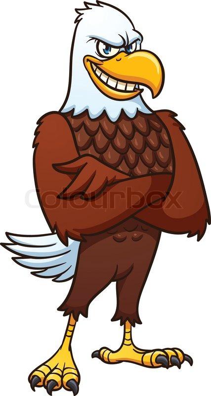 cool cartoon bald eagle vector illustration with simple gradients rh colourbox com bald eagle cartoon images bald eagle cartoon pics