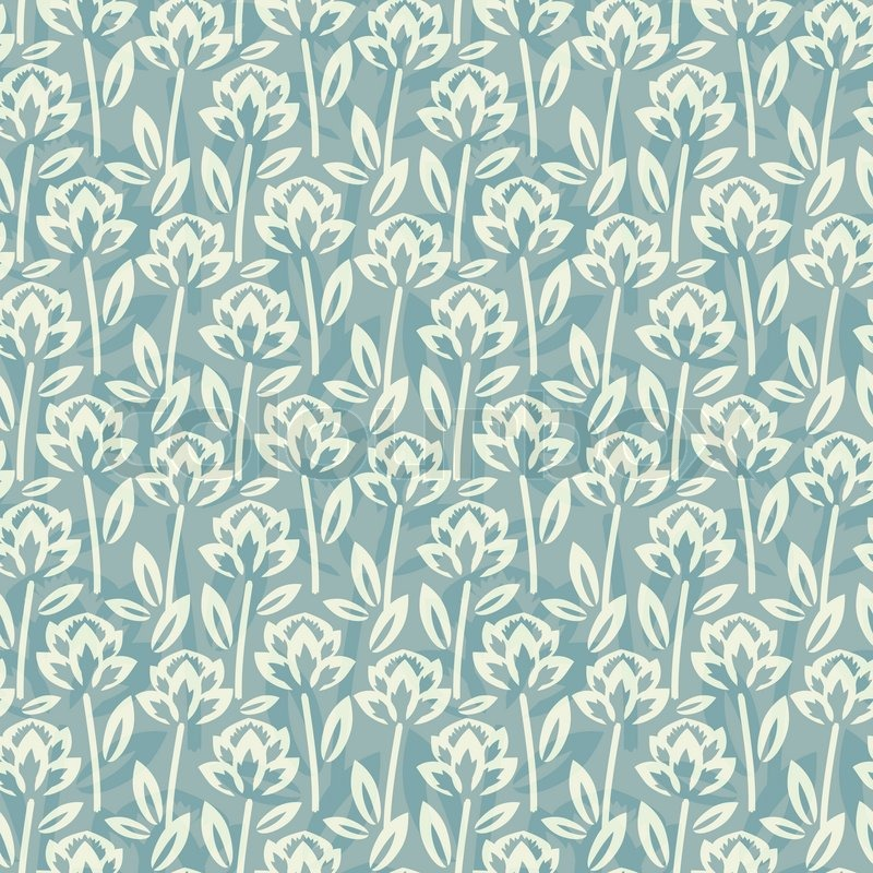 Seamless floral pattern with overlay stock vector for Pattern overlay