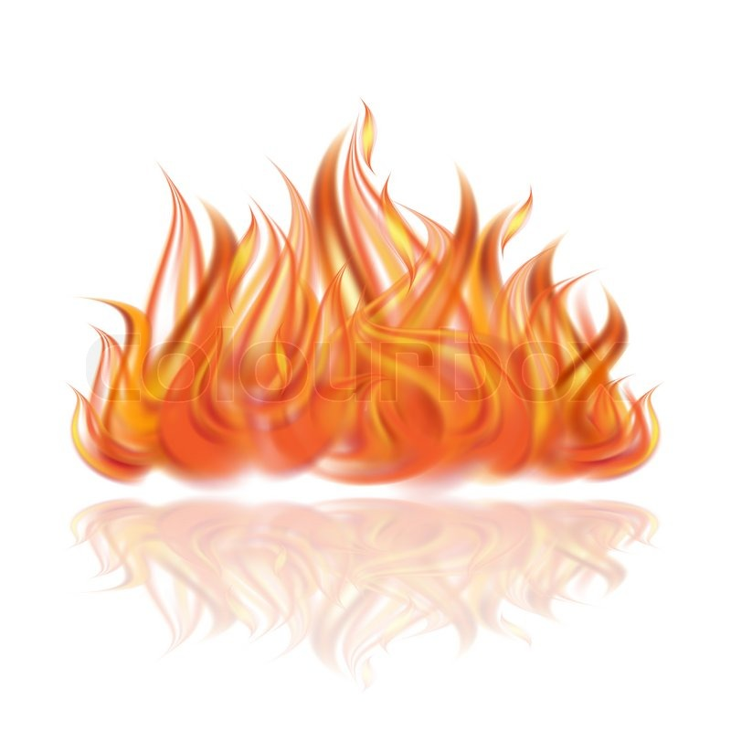 Fire White Background Png Images & Pictures - Becuo