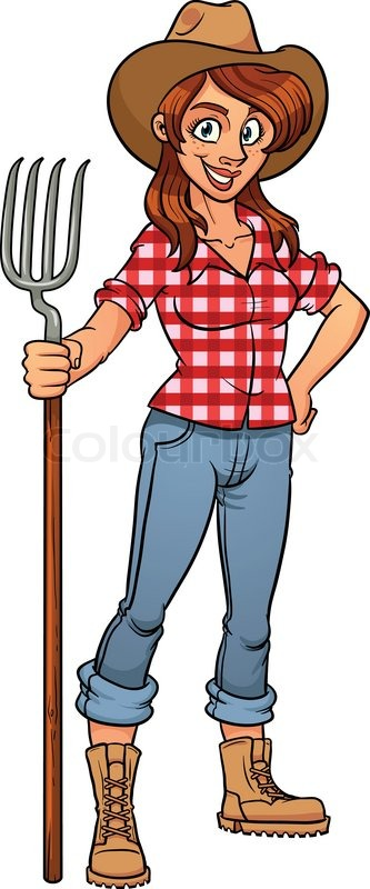 Cartoon farmer. Vector illustration with simple gradients ...