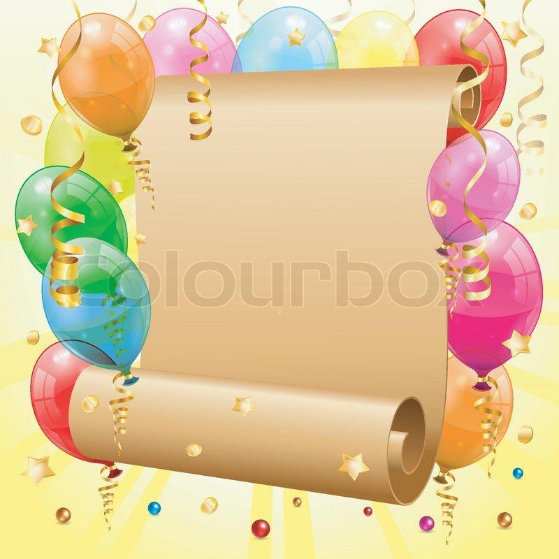 Geburtstag Rahmen Vektorgrafik Colourbox