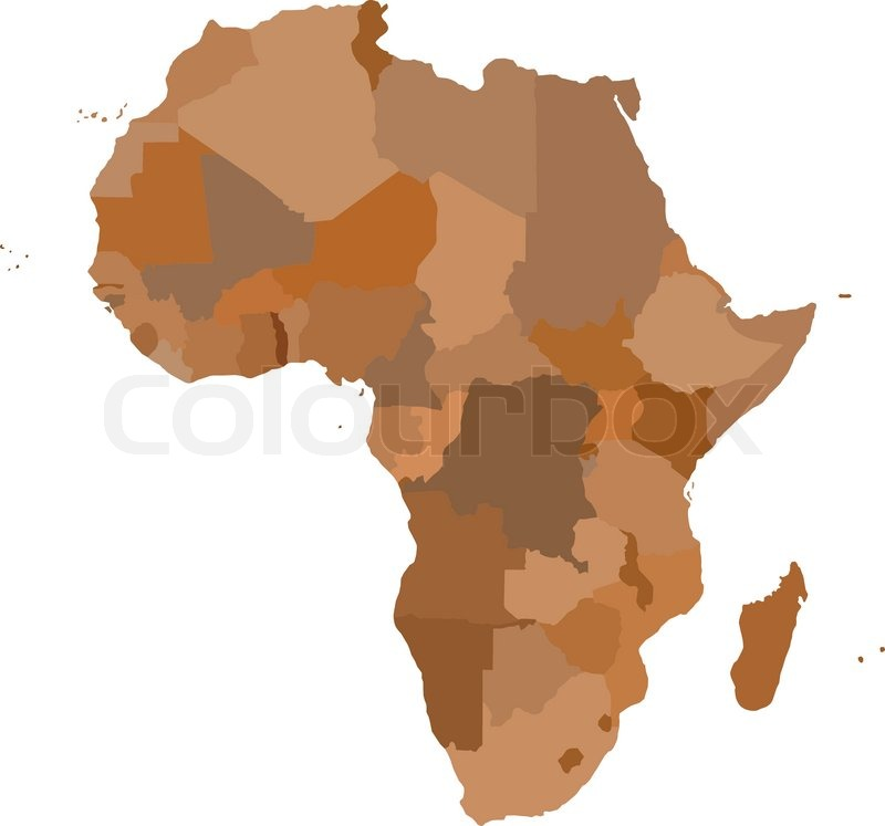 AFRICA Map Cartography collection Vector illustration  Stock