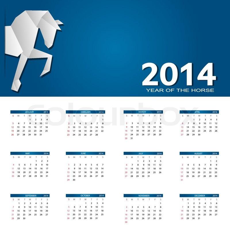 Calendar Illustration Jobs : New year calendar vector illustration stock