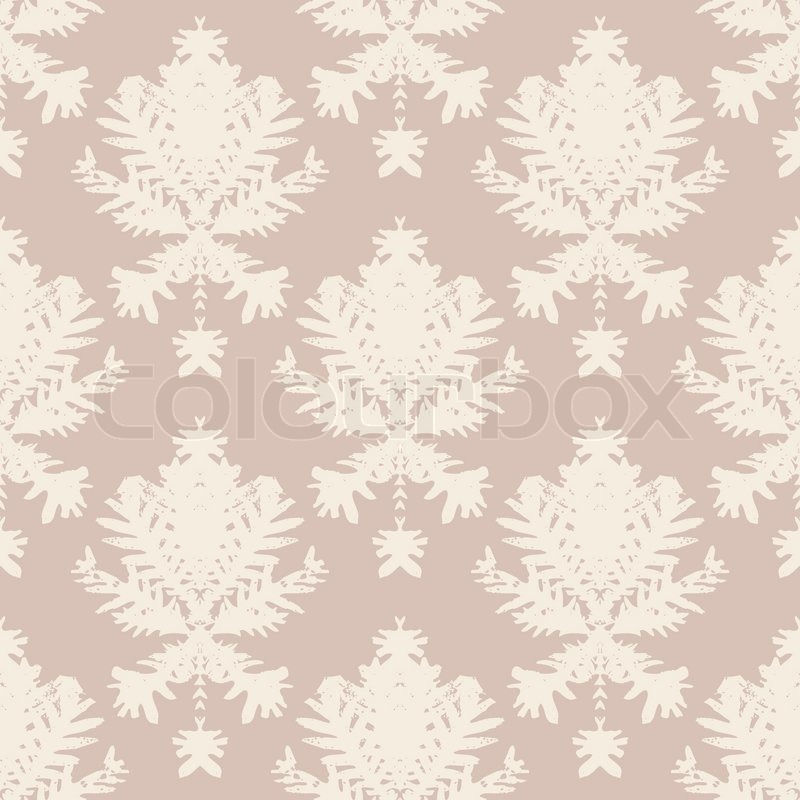 Simple elegant block printed seamless vector pattern with for Simple elegant wallpaper