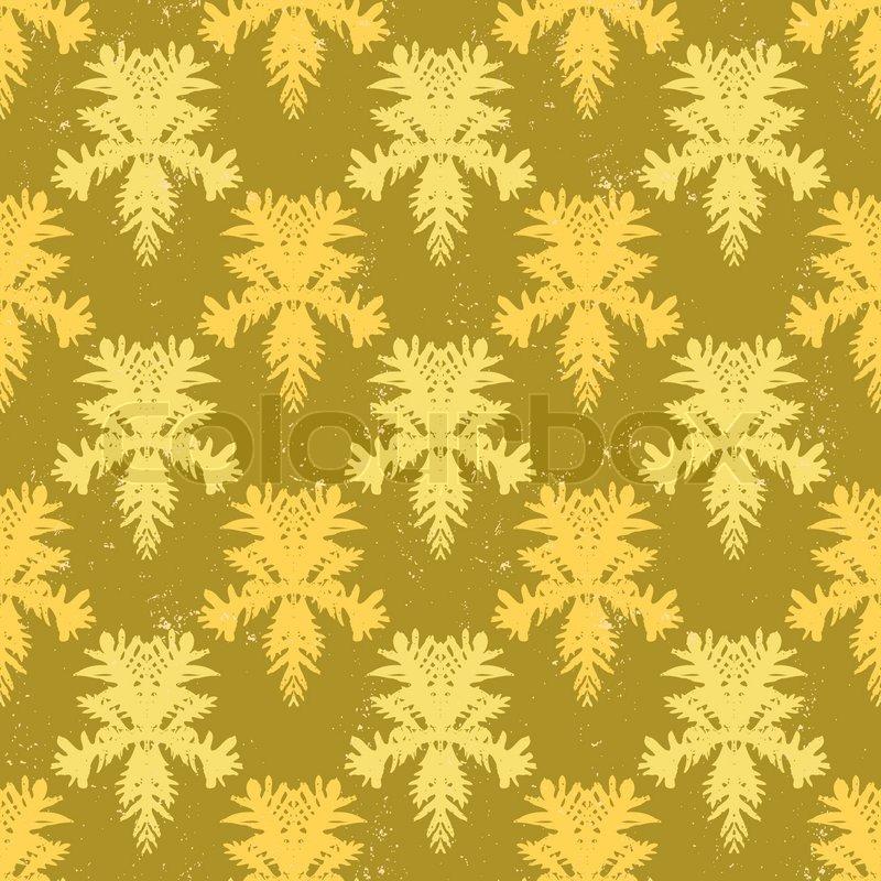 Simple, elegant block printed seamless vector pattern with damask ...