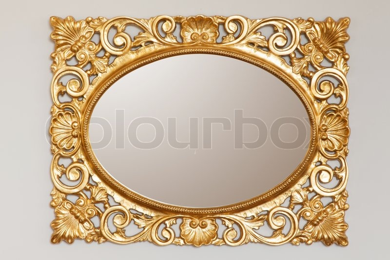 golden mirror frame stock photo colourbox - Mirror Frame