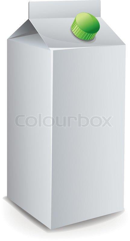 Milk Carton Template vector | Stock Vector | Colourbox