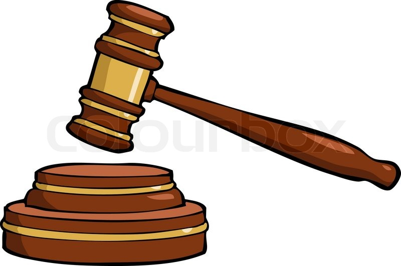 Cartoon gavel | Stock Vector | Colourbox