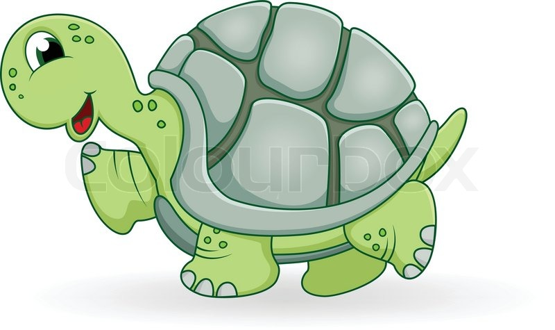 Vector Illustration Of Turtle Cartoon