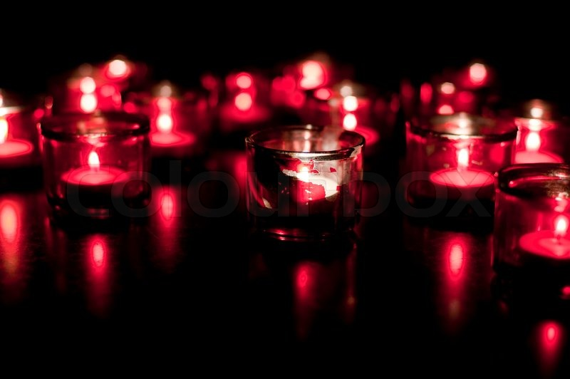 Candles burning in dark candles burning in the dark