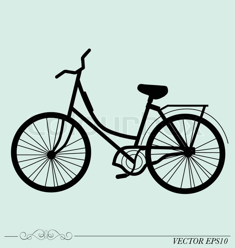 Vintage Retro Bicycle Background. Vector illustration ...
