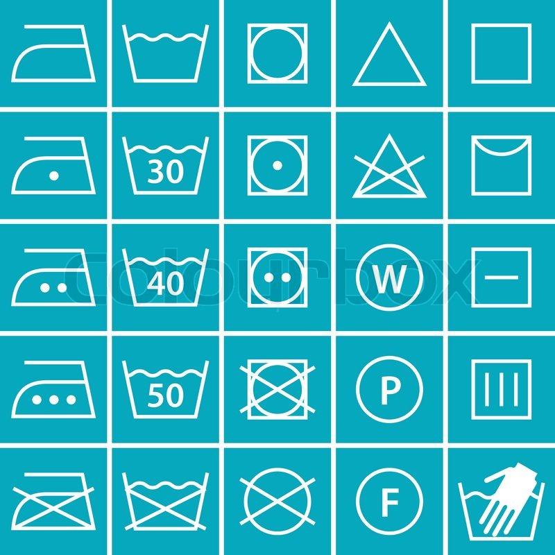 washing symbols blueeps vektorgrafik colourbox. Black Bedroom Furniture Sets. Home Design Ideas