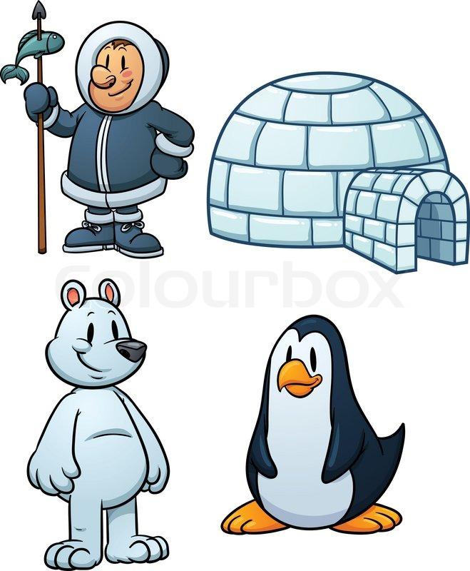 cute cartoon inuit  igloo  polar bear and penguin vector snowman clip art free images svg snowman hat clipart free