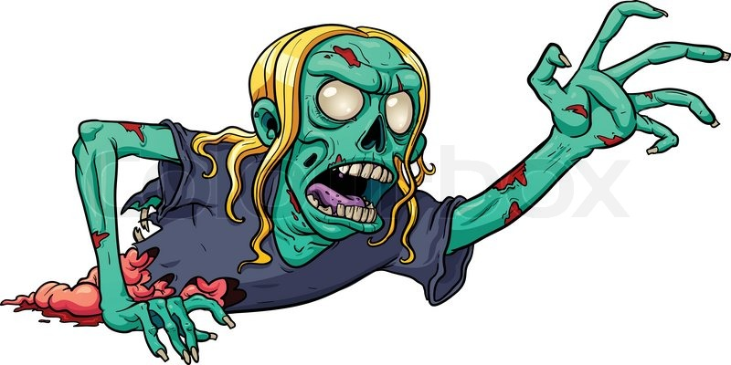 Zombie cartoon Stock Photos and Royalty Free Images