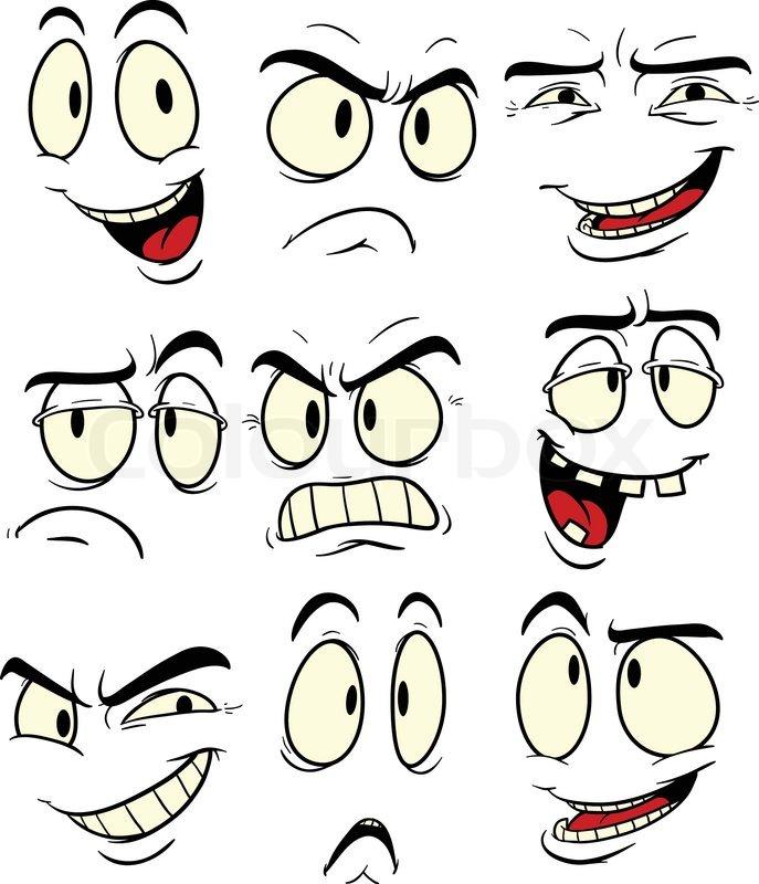 Facial_expressionseps | stock vektor | Colourbox
