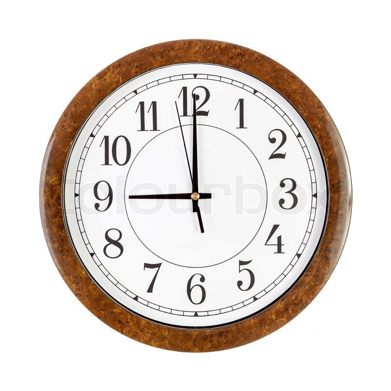 Stock image of 'Clock face showing nine o'clock isolated on white'
