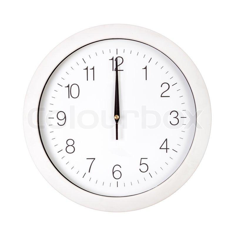 Clock Face Showing 12 O'clock Clock Face Showing Twelve