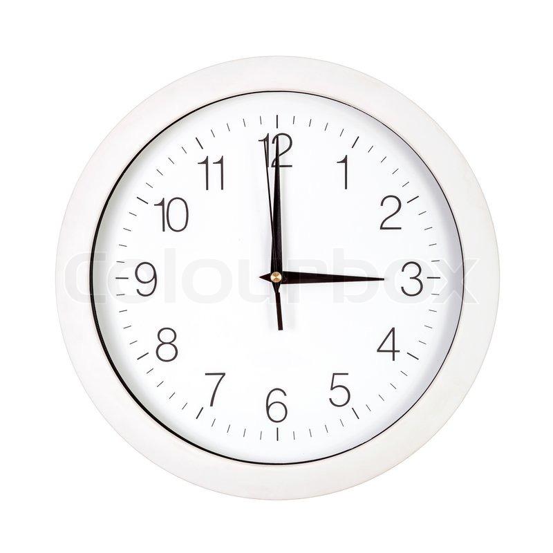 Clock Face Showing 12 O'clock Clock Face Showing Three